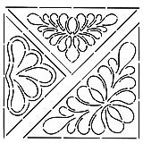 Golden Threads EK20QC 3 Triangular Designs Quilt Stencil