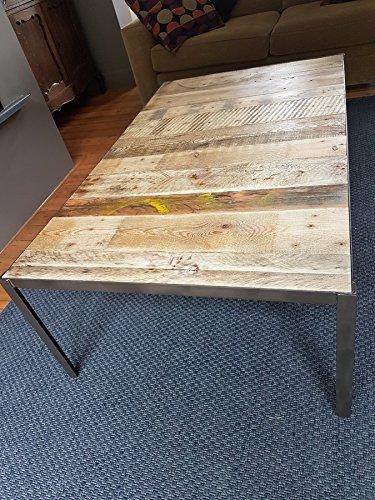 Superieur Table Basse Industrielle En Bois Et Métal