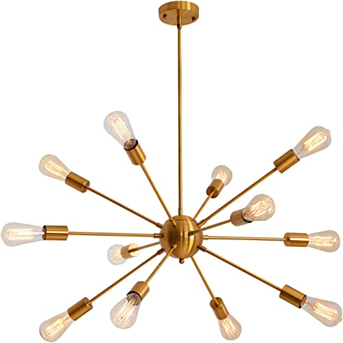 Sputnik Chandeliers Modern Vintage Pendant Lighting Industrial Ceiling Hanging Light 12 Light