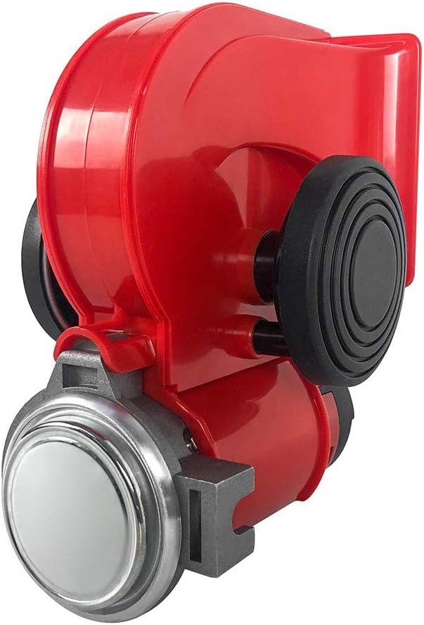 LKW Pkw Motorr/äder Kompressor Fanfare Super laute Auto Lufthupe mit elektrischer Hupe f/ür Kfz Relais f/ür Boot QWORK 12V 150db Auto air horn