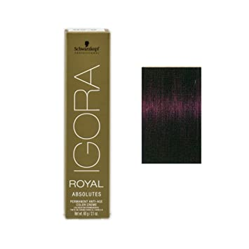 6cf25e6010 Amazon.com : Schwarzkopf Professional Igora Royal Absolutes Hair Color,  4-90, Medium Brown Violet Natural, 2.1 Ounce : Beauty