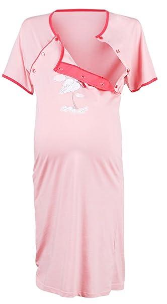 Happy Mama De Las Mujeres Maternidad Hospital vestido Nightie Juego de trabajo y nacimiento. 126p gris Polvo Rosa 42: Amazon.es: Ropa y accesorios