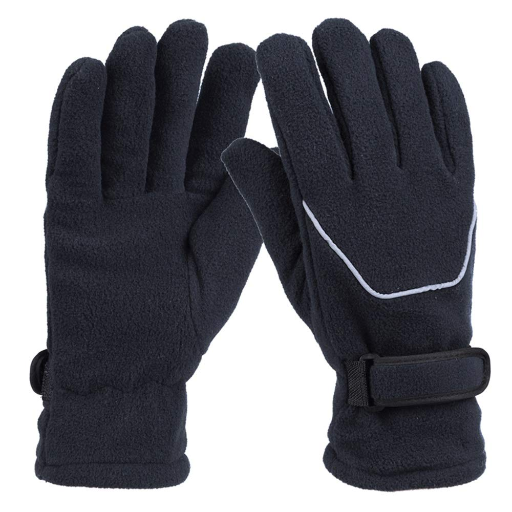 Color : Gray MMPY Windproof Riding Gloves Plus Velvet Thick Windproof Gloves Wear-Resistant Fleece Warm Gloves