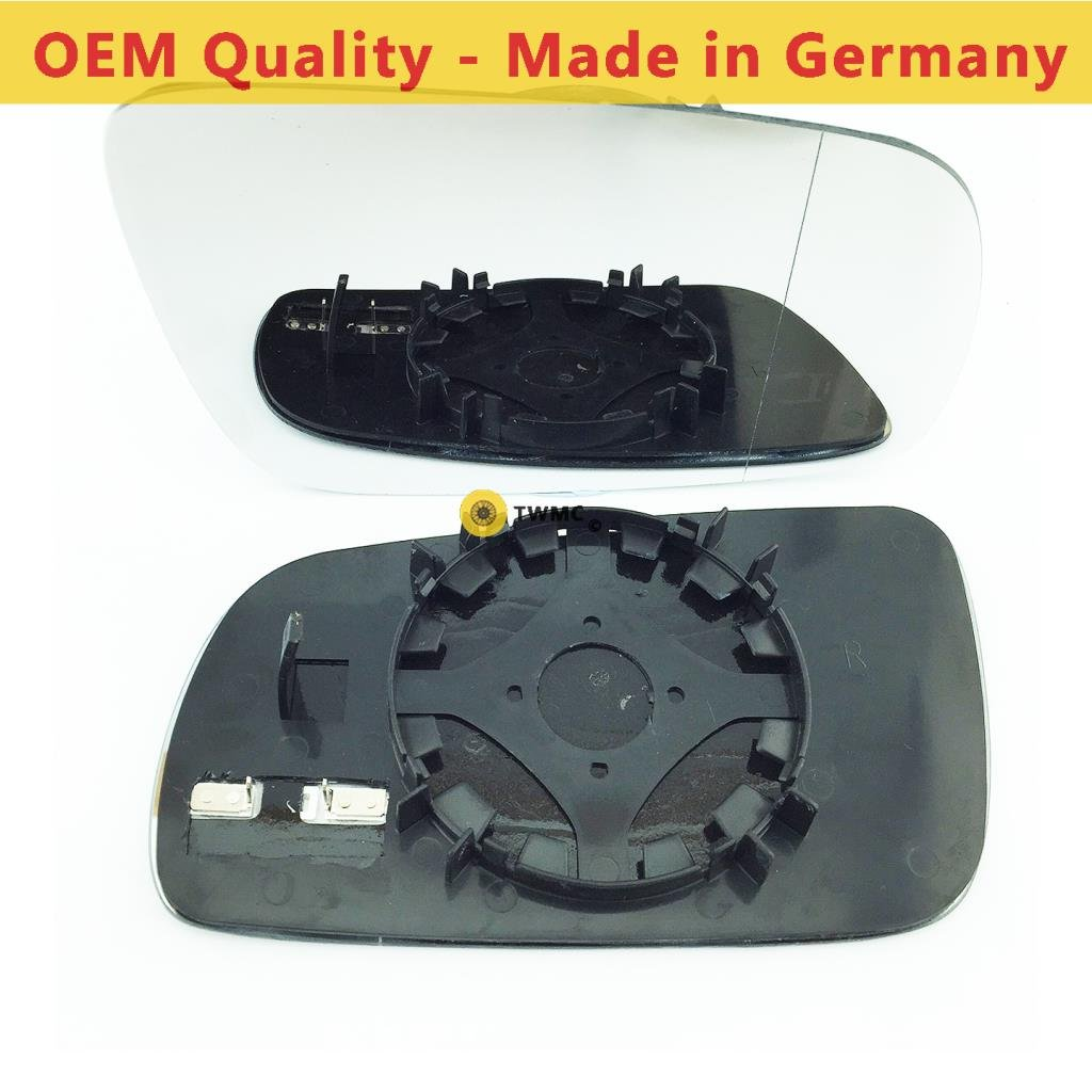 Driver Side Silver Wide Angle Wing//Door Mirror Glass Including Base Plate RH SEAlhambra 1996 to 2009 Heated