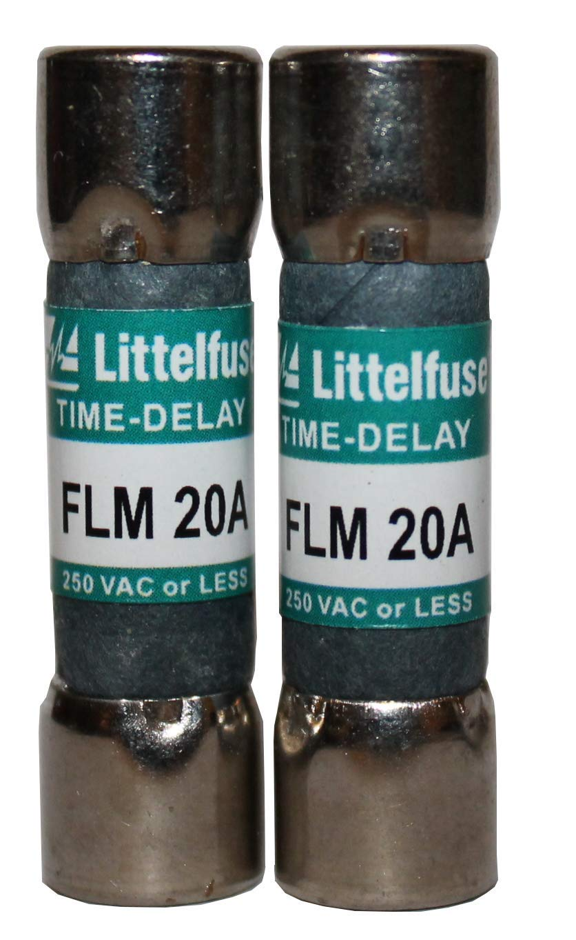 FLM-020 Time Delay Midget Fuse 20 Amp 250 VAC 2 Pack
