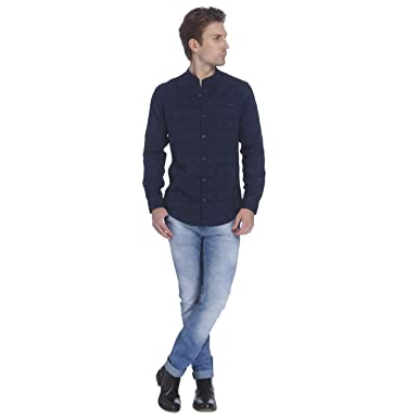 f572e9964d77 Mufti Mens Blue Low Rise Super Slim Fit Jeans (38)  Amazon.in  Clothing    Accessories