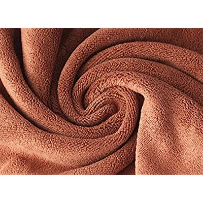 Wellco Microfiber Car Cleaning Drying Towel Coffee Large 63 Inchx23.6 Inch Wash Durable: Automotive