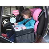 MuStone Child travel tray Children Snack, Kids Waterproof Travel Tray Car Organiser for Baby Car Seats Play,Learn,Activity,Train,Plane,Indoor& Outdoors Journeys,Travel Tray(Black)
