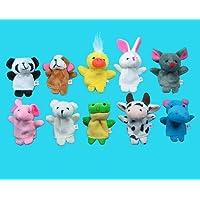 Desconocido Generic Soft Plush Animal Finger Puppet Set (10 Piece)