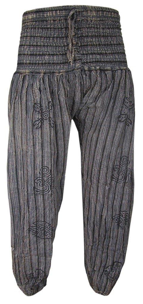 Little Kathmandu High Elastic Waist Stonewashed Symbols Casual Lounge Trousers