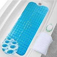 HALOVIE Alfombrillas de Baño Extra Largas Alfombra Antideslizante para Bañera Resistentes al Moho Tapete PVC con 200…