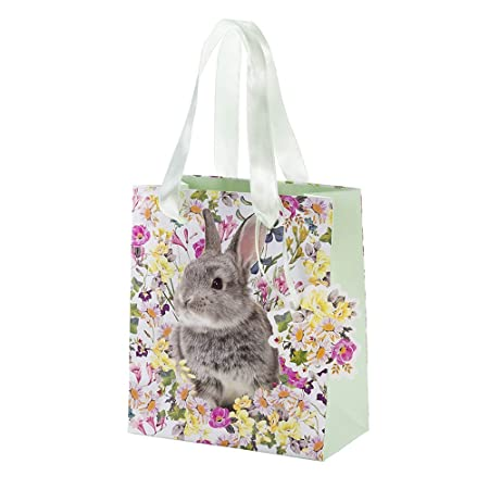 Talking tables truly bunny floral rabbit gift bag with ribbon talking tables truly bunny floral rabbit gift bag with ribbon handles and tag for birthday negle Choice Image