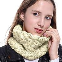 Winter Warm Knitted Scarf Neck Warmer Neck Gaiter for Women Men