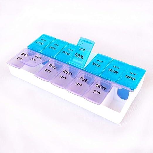 GHzzY Caja de Pastillas - Caja de Pastillas Am/PM con 14 ...