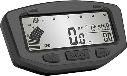 Trail Tech 752-119 Black Vapor Digital Speedometer Tachometer Gauge Kit 1995-2019 KTM Honda Yamaha Kawasaki Suzuki