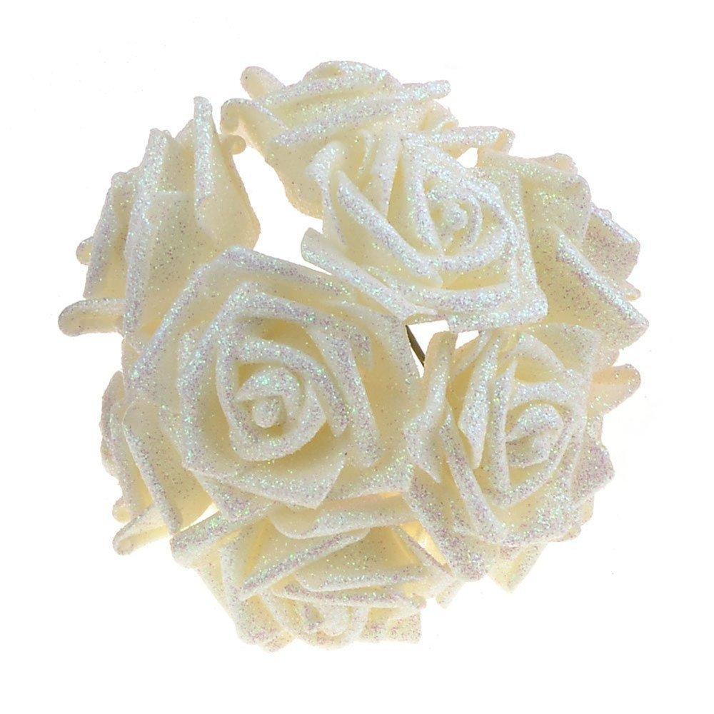 10PCSLOT-Artificial-Fake-Foam-Rose-Flowers-Bridal-Wedding-Bouquet-Bunch-Home-Decor-White