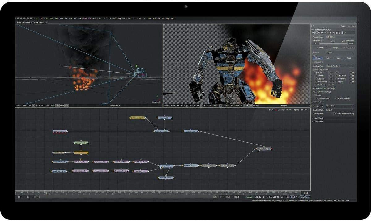 Amazon Com Blackmagic Design Fusion 9 Studio Software For Mac And Windows License Dongle Electronic Download