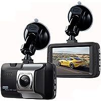 """ibaste-top Dash Cam, Car Driving Recorder 3""""HD 1080P Macchina Fotografica per Visione Notturna, 170 Telecamera grandangolare con cruscotto, Monitoraggio parcheggio G-Sensor 24 Ore su 24"""