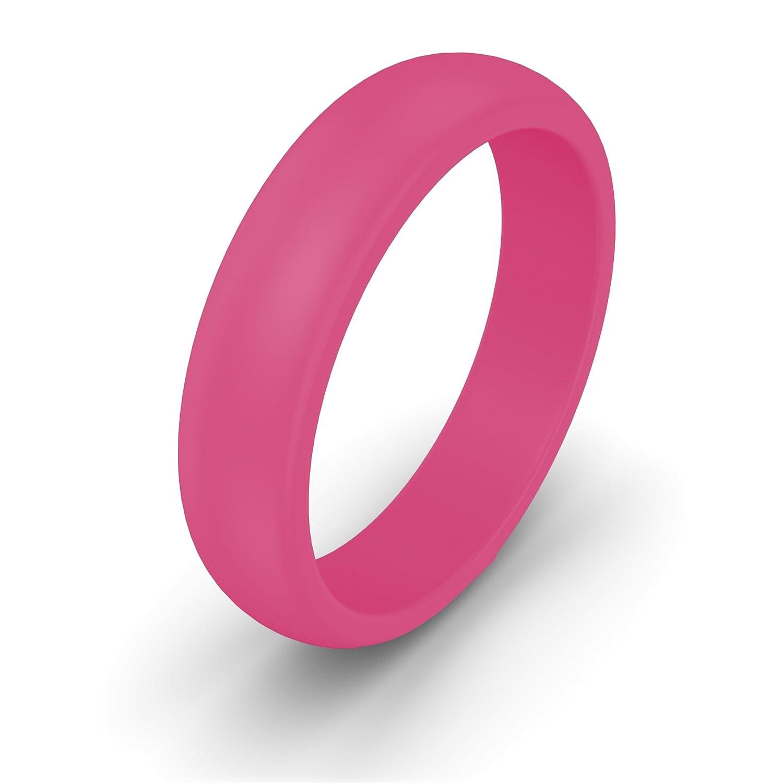 Amazon.com: OLLOBAND Women\'s Silicone Ring - Safe Wedding Band, Yoga ...