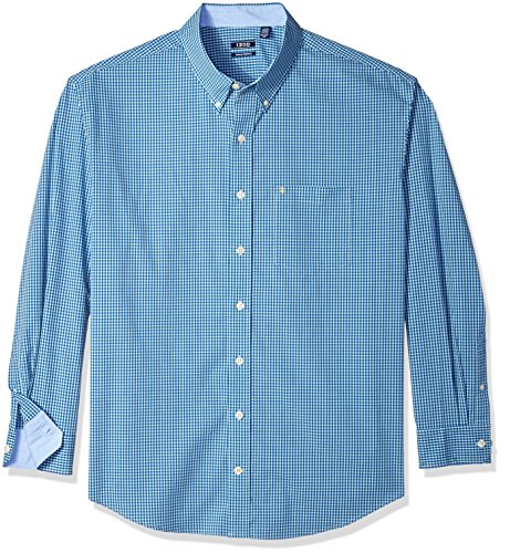 (IZOD Men's Premium Performance Natural Stretch Gingham Long Sleeve Shirt (Big & Tall and Tall Slim))