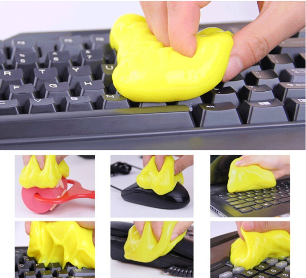 XYTMY Omnipotent Gel Magic Cleaner Dust Removal for PC Keyboard Air Conditioner Computer PC Mouse Mobile Phone (4 Bags)
