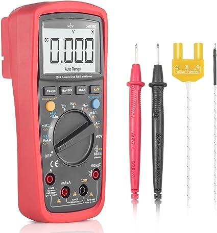 schermo a colori presa di corrente BSIDE kit multi tester per circuiti domestici multimetro digitale RMS e rilevatore di tensione senza contatto
