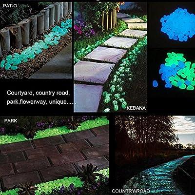 waroomss Glow Stones, vibrantes piedra Jardín Decorativa Glow piedras Glow in the Dark Jardín piedras para la prohibida Walkway Park Acuario Maceta Decoración: Amazon.es: Bricolaje y herramientas