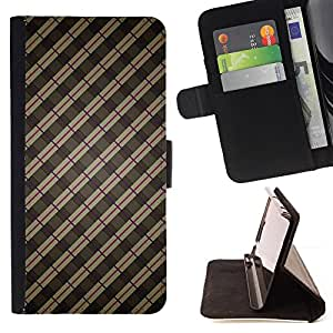 BullDog Case - FOR/Sony Xperia Z1 Compact D5503 / - / stripes wallpaper grey brown red random /- Monedero de cuero de la PU Llevar cubierta de la caja con el ID Credit Card Slots Flip funda de cuer