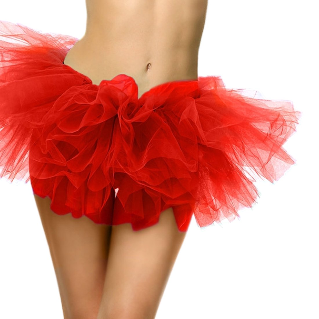 Slocyclub Adult Tutu Skirt Ladies Short Ballet Dance Dress 5 Layers colorful Puff Skirts by Slocyclub (Image #4)