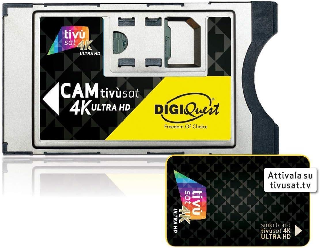 Module Tivusat SmarCam 4K Ultra HD CI avec Carte Intelligente TiVu Aktive Smartcard