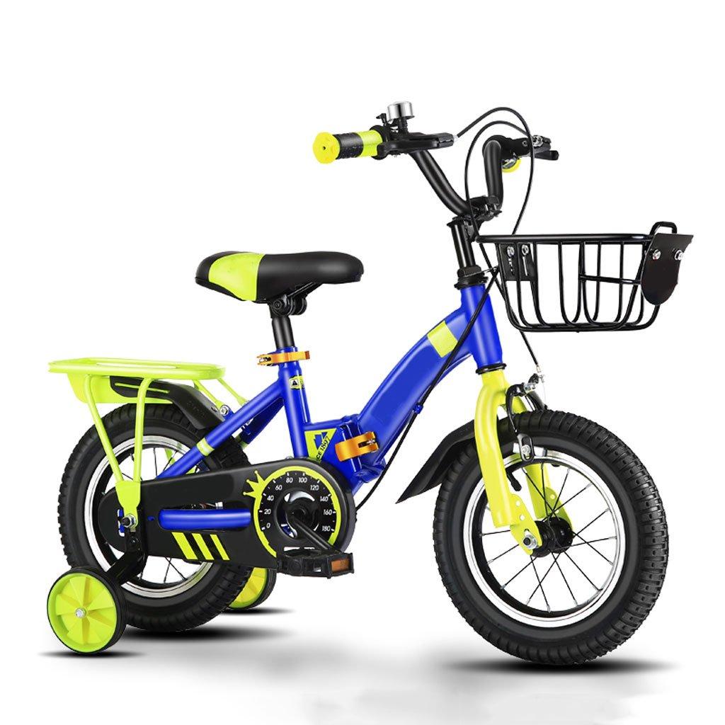 Bicicletta Bambini 12 14 16 18 Pollici per Bambini All'Aperto in Mountain Bike con Ruota di Addestramento Pieghevole (Formato  14 Pollici)