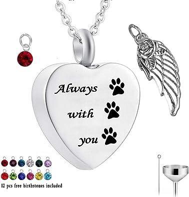 PAW PRINT CREMATION JEWELLERY PET CAT DOG CHARM ASH URN BRACELET KEEPSAKE ASHES