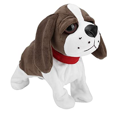 Aisheny Childrens Electric Toy Dog Intelligent Voice Control Dog Plush Doll (Shipped Without Battery) (Big Eye Dog): Toys & Games