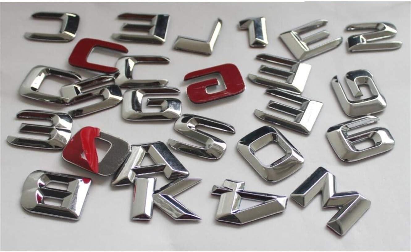 cvnbdfgjhdfjh 3D Chrom-Buchstaben f/ür Kofferraum hinten Emblem W212 W211 W213 E200 E220 E250 E350 CDI 4 Matic