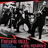 He's a legend in Vegas, but he never had a hit in the States. It was a different story in England. Giddy Up A Ding Dong was a big hit there in 1956. Freddie was kinda like Bill Haley, cutting high energy, big band-styled rock 'n' roll. In '55...