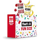 That's It. Fun Size Fruit Bars Variety Pack(50 Pieces, 10g Each) With Apples + Bananas, Apples + Cranberries, Non-GMO, Paleo