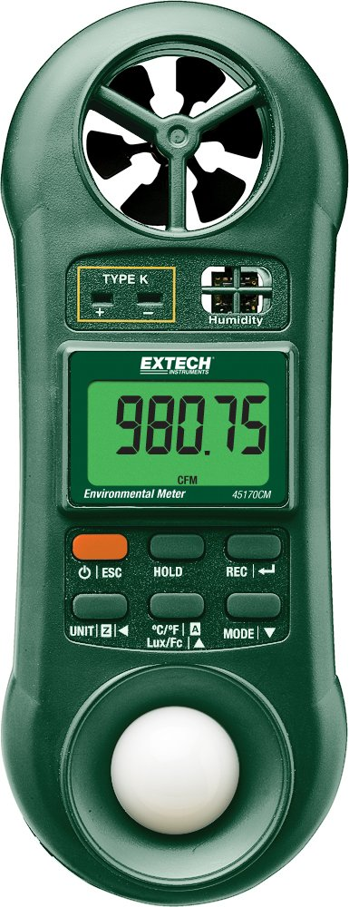 Extech 45170CM 5-in-1 Environmental Meter by Extech B00SY53WE4