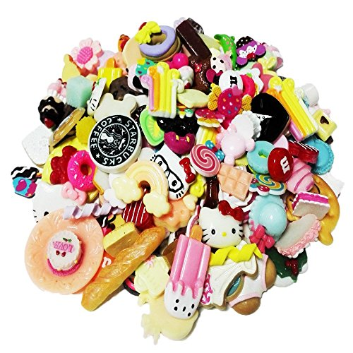 Incredible art Pieces Mixed lot Food Resin Flatback cute Cabochons Decoden Pieces,20pc per packet. (Cute Charms)