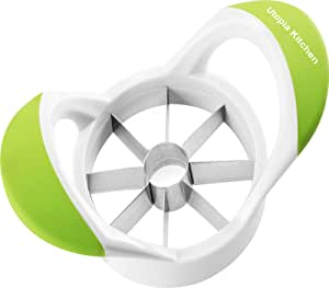 Apple Slicer Cutter and Corer - Apple Wedger 430 Grade Stainless Steel - 8 Sharp Blades and Easy Grip - 100% Rust Resistant