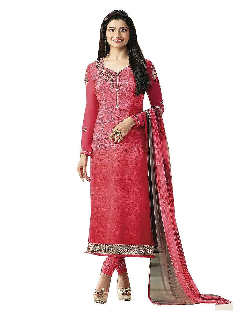 Pink STELLACOUTURE Indian Wear & Ethnic Wear Straight Fancy Salwar Kameez for Women P10
