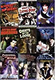 Horror Movies (9 Pack) Ghosts on the Loose, the Bat, Elvira's Haunted Hills,house on a Haunted Hill, the Little Shop of Horrors, Kingdom of the Spiders, Carnival of Souls, Night of the Living Dead, Jack the Giant Killer