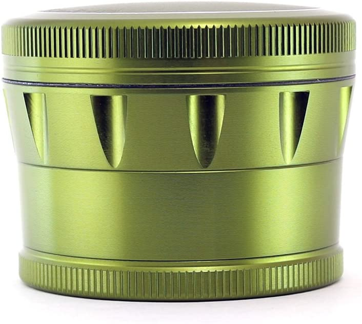 Chromium Crusher V2 Enhanced Grip 2.5 4 piece Tobacco Spice Herb Grinder with Metal Gift Box Blue