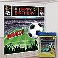 Amscan Soccer Goal Birthday Party Soccer Scene Setters Wall Decorating Kit, Multicolor