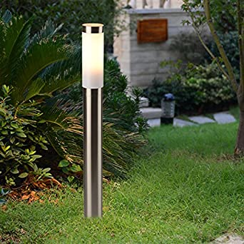 Acero inoxidable poste 80 cm Alto IP44 salpicaduras de agua exterior lámpara de proyección Patio Jardín: Amazon.es: Iluminación