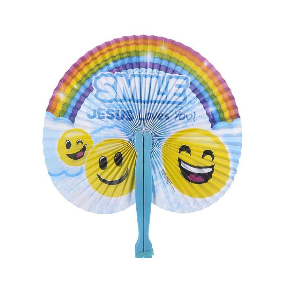 10'' Religious Folding Fans (With Sticky Notes)