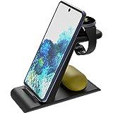 Aimtel 3-i-1 trådlös laddningsstation kompatibel med Samsung Watch/smartphone/knoppar/knoppar, induktiv laddare för…