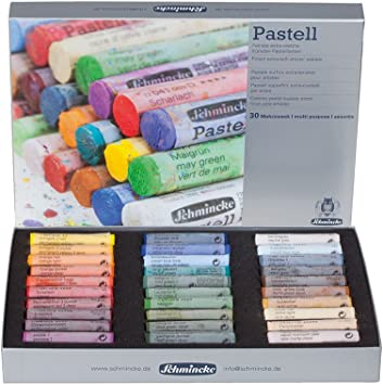 45 LANDSCAPE Colours Schmincke Soft Pastel Set Wooden Presentation Box Set