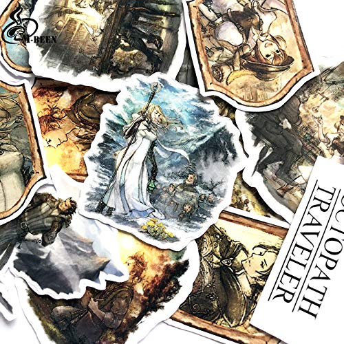 DoubleChin 14pc Octopath Traveler Sticker Set