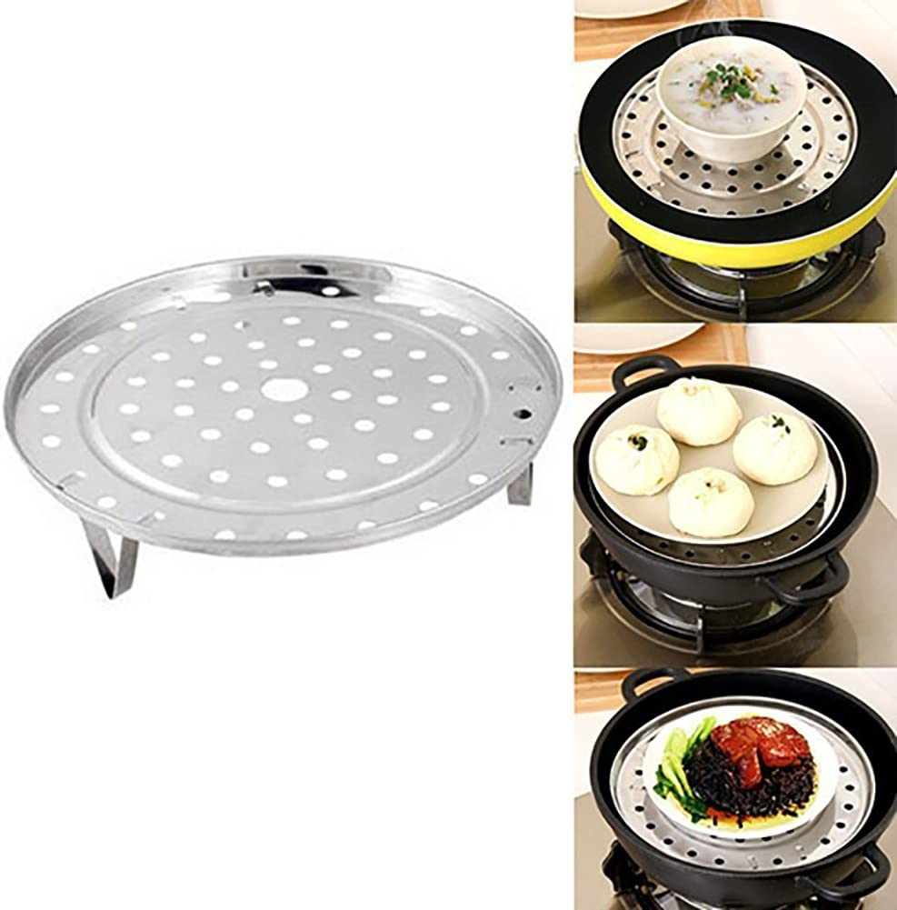 Baoblaze 2 Pieces Of Vegetable Steamer Basket Inserts Stainless Steel Stove 18cm