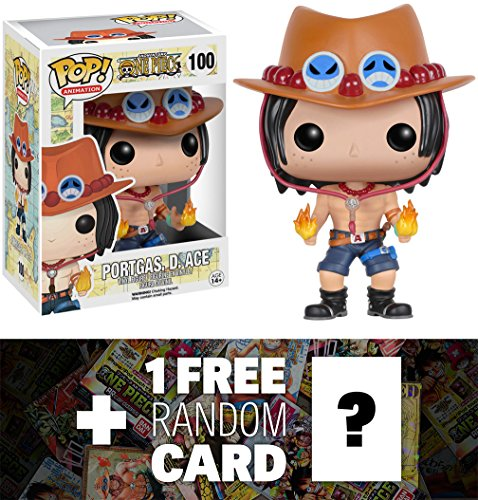 Portgas D. Ace: Funko POP! x One Piece Vinyl Figure + 1 FREE Official Japanese One Piece Trading Card Bundle [63580]